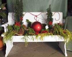 gartenbank dekorieren die wohnung weihnachtlich. Black Bedroom Furniture Sets. Home Design Ideas